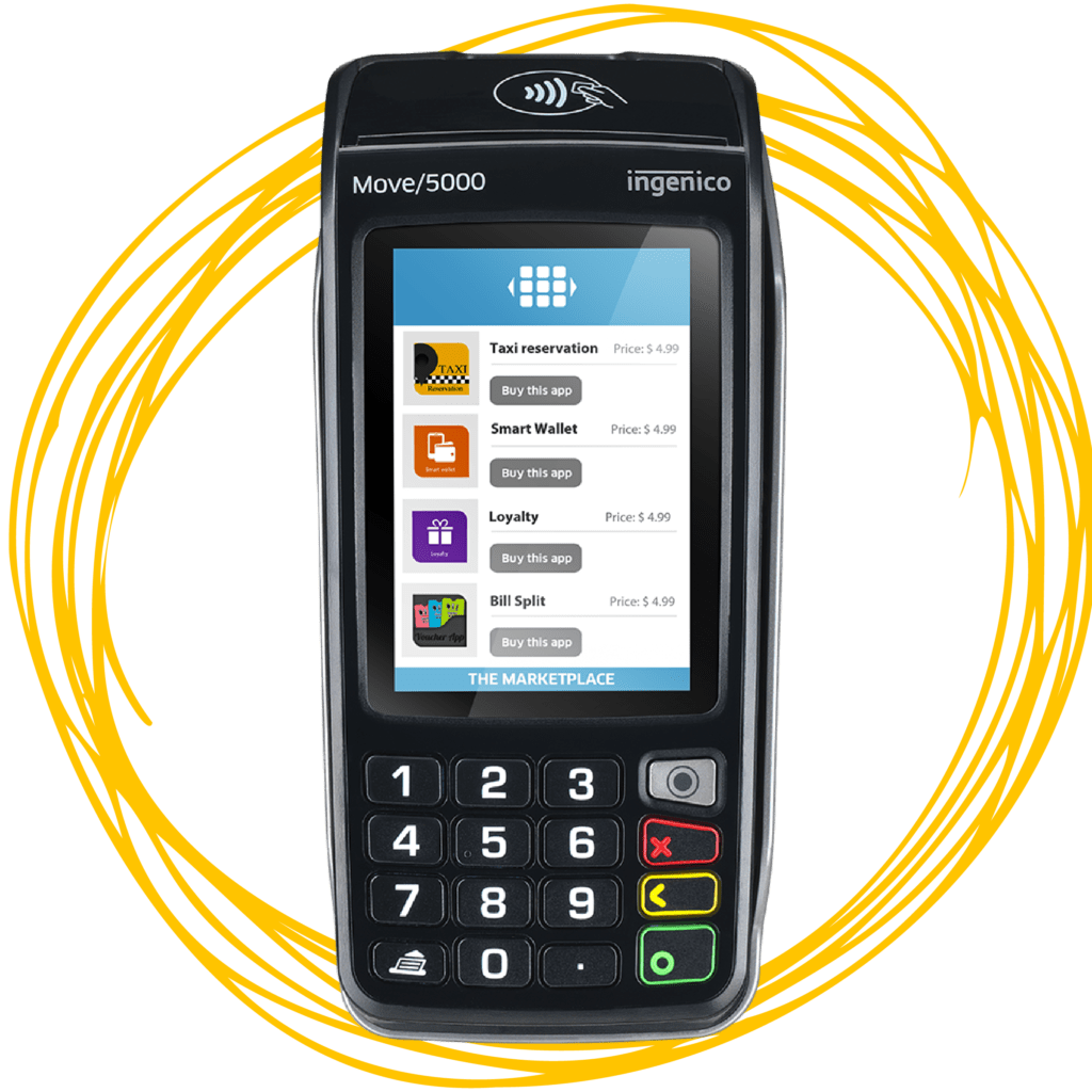 Move 5000 Payment Processing Terminal Credit Debit Machine