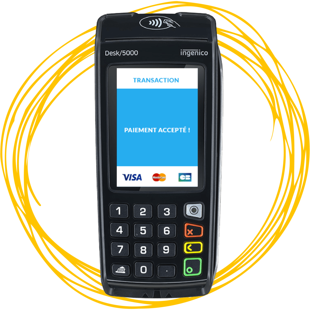 Desk 5000 Payment Processing Terminal Credit Debit Machine
